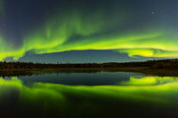 Electric Aurora, Prosperous Lake Territorial Park, Northwest Territories, Canada