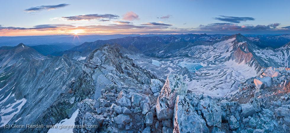Capitol Peak Panorama, Maroon Bells-Snowmass Wilderness, Colorado