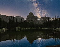 Milky Way over Lone Eagle Peak III, Indian Peaks Wilderness, Colorado