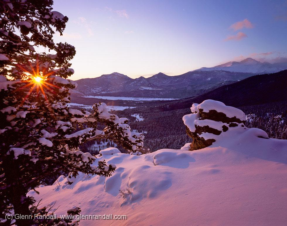 Longs Peak from Many Parks Curve, Rocky Mountain National Park, Colorado