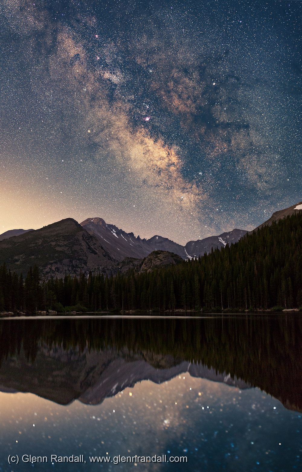 Milky Way over Bear Lake, Rocky Mountain National Park, Colorado