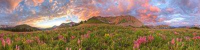 Meadow Mountain Panorama, Maroon Bells-Snowmass Wilderness, Colorado