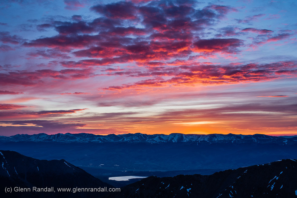 Sunrise from La Plata Peak, Collegiate Peaks Wilderness, Colorado