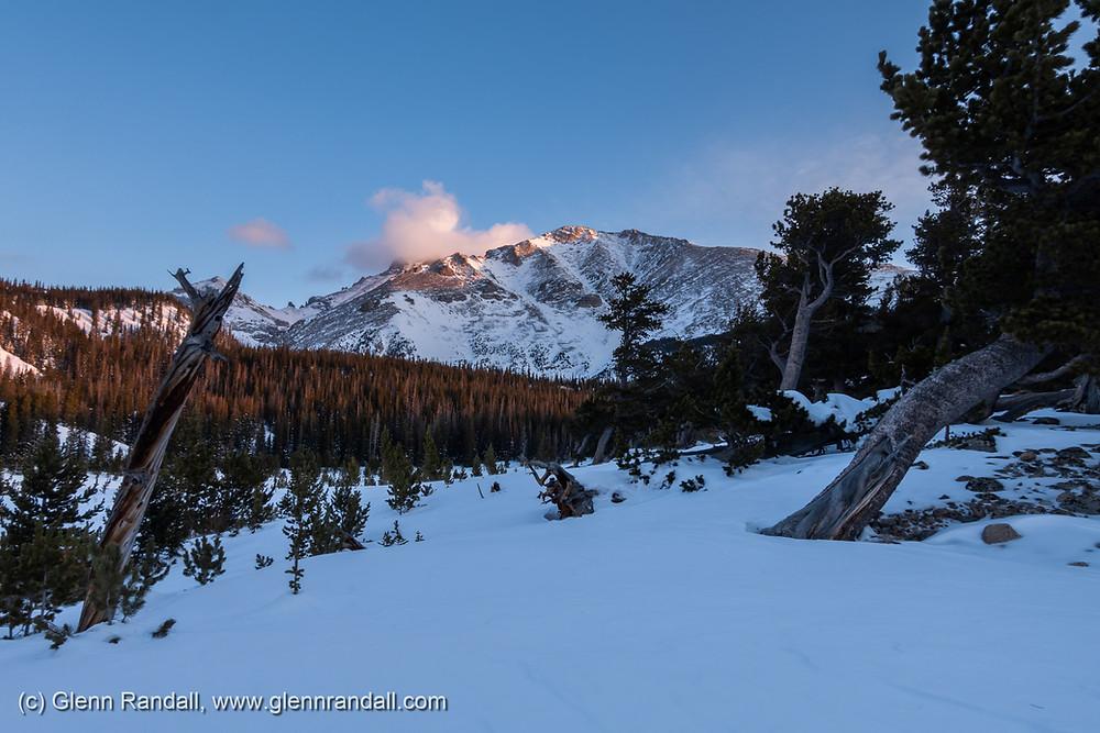 Mt. Meeker at sunrise from Sandbeach Lake, Rocky Mountain National Park, Colorado