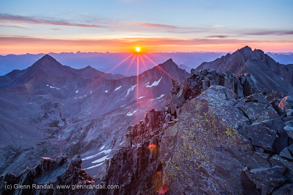 Sunrise from El Diente Peak, Lizard Head Wilderness, Colorado