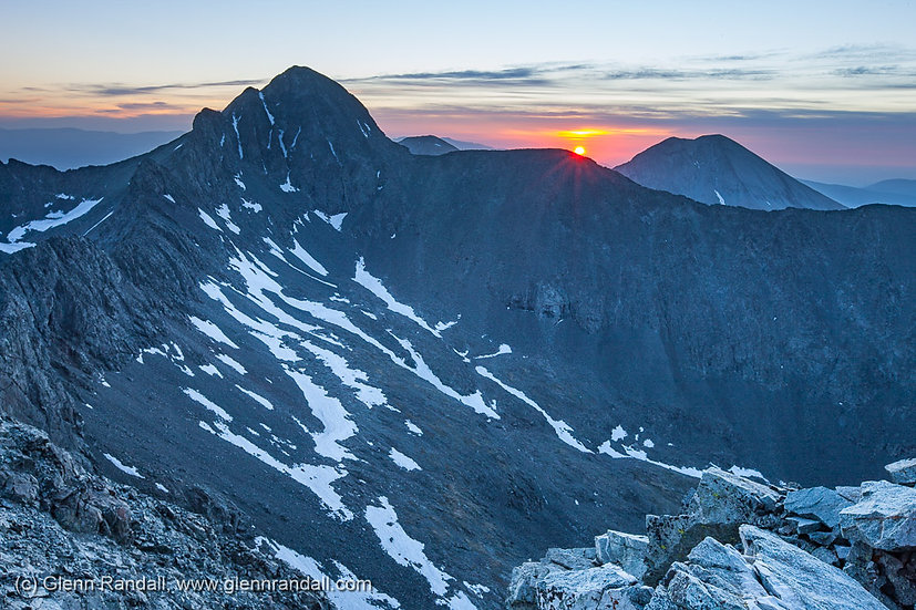 Sunrise from Little Bear Peak, Sangre de Cristo Wilderness, Colorado