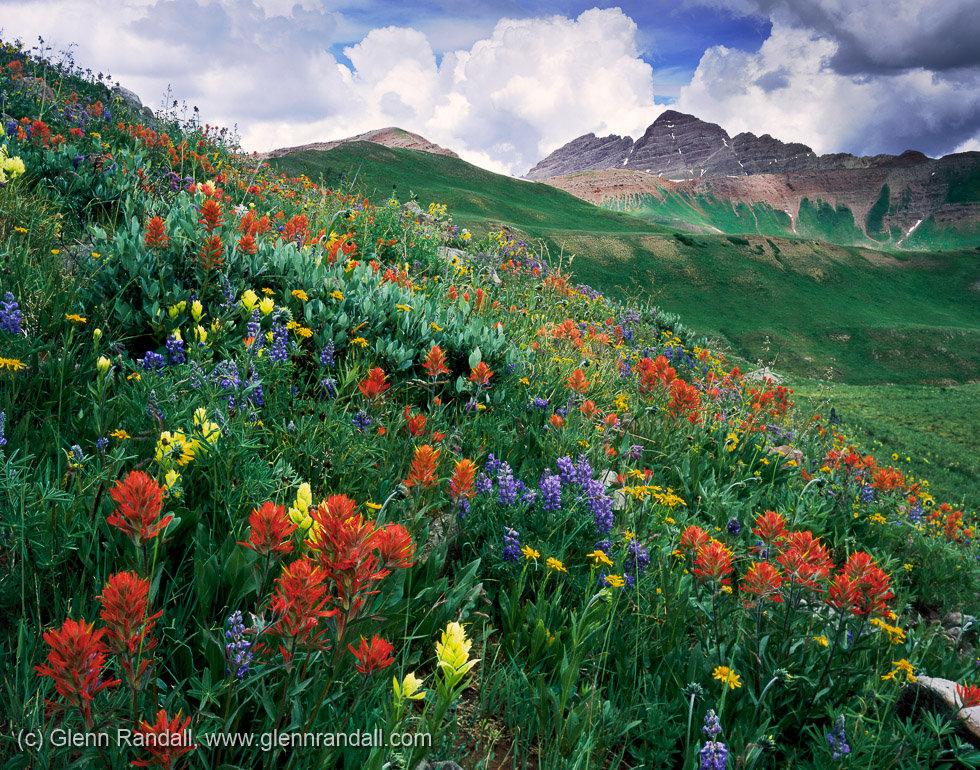 Maroon Peak from West Maroon Basin, Maroon Bells-Snowmass Wilderness, Colorado
