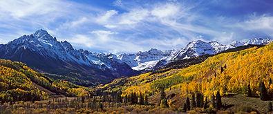 Mt. Sneffels from East Dallas Creek Panorama, Mt. Sneffels Wilderness, Colorado