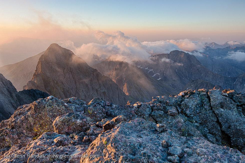 Sunrise from Crestone Peak, Sangre de Cristo Wilderness, Colorado