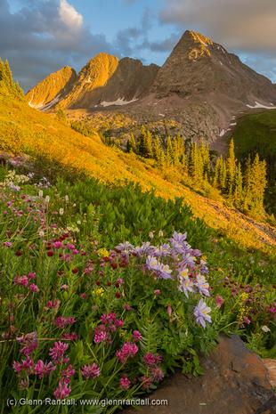 Trinity Peaks at Sunset