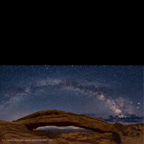 Milky Way over Mesa Arch