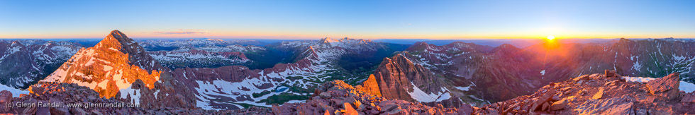 North Maroon Peak Panorama, Maroon Bells-Snowmass Wilderness, Colordado