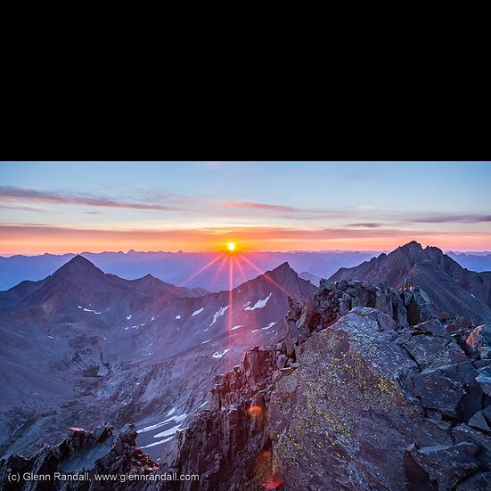 Sunrise from El Diente Peak