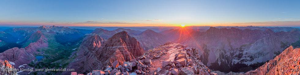 South Maroon Peak Panorama, Maroon Bells-Snowmass Wilderness, Colorado
