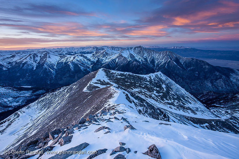 Sunset from Mt. Antero, San Isabel National Forest, Colorado