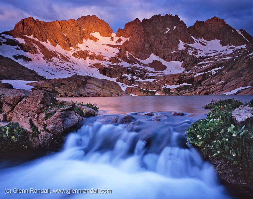 Stormy Sunrise over Windom and Sunlight Peaks, Weminuche Wilderness, Colorado
