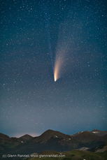 Comet Neowise over the Never Summer Mountains