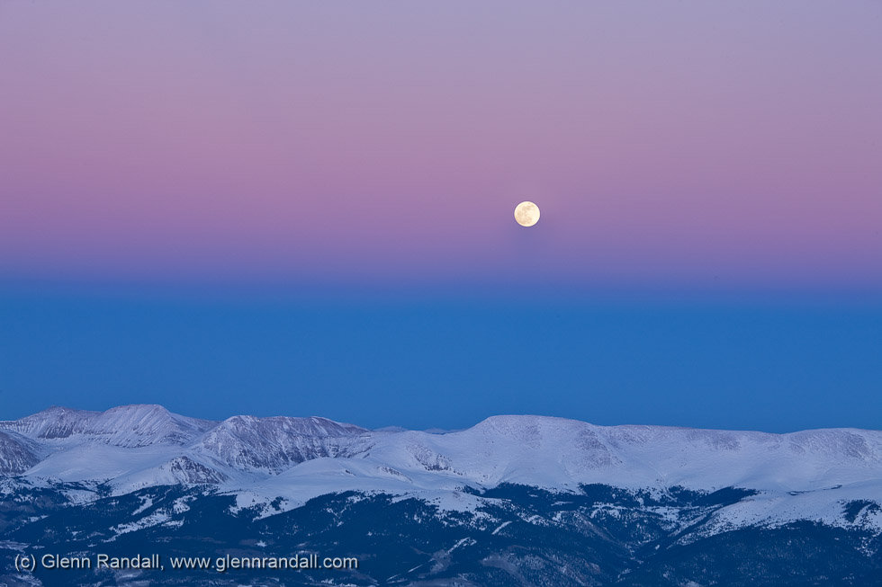 Sunset from Mt. Elbert, San Isabel National Forest, Colorado