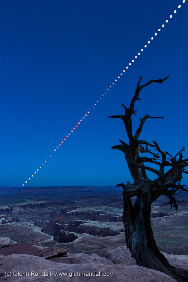 Lunar Eclipse from Grand View Point, Canyonlands National Park, Utah