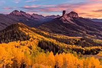 Courthouse Mountain from Cimarron Ridge, San Juan Mountains, Colorado