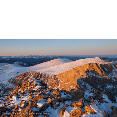 Sunset from Mt. Bierstadt