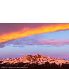 Full Moon over Longs Peak