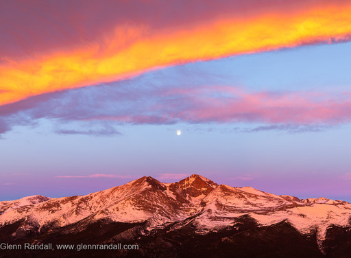 The Making of Full Moon over Longs Peak