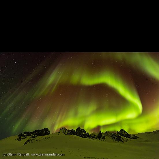 Aurora over Mt. Monolith