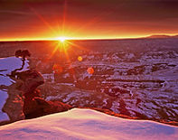 Winter Sunrise at Grand View Point, Canyonlands National Park, Utah