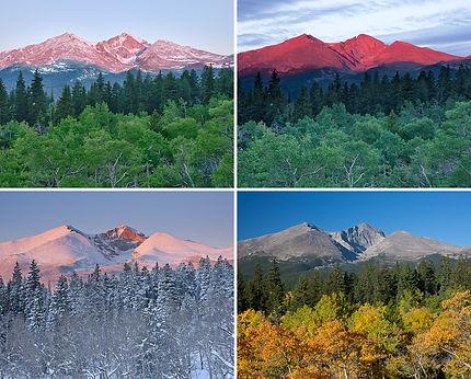 Longs Peak from Twin Sisters Four Seasons, Rocky Mountain National Park, Colorado