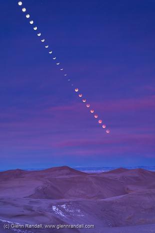Lunar Eclipse over Star Dune