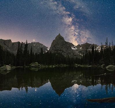 Milky Way over Lone Eagle Peak, Indian Peaks Wilderness, Colorado