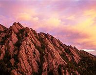 The Flatirons from Bear Mountain, Boulder Mountain Parks, Colorado