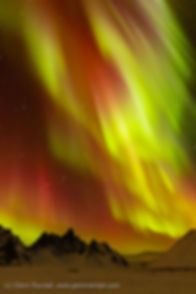 Auroral Storm over Tombstone Mountain, Tombstone Territorial Park, Yukon Territory, Canada