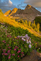 Trinity Peaks at Sunset, Weminuche Wilderness, Colorado