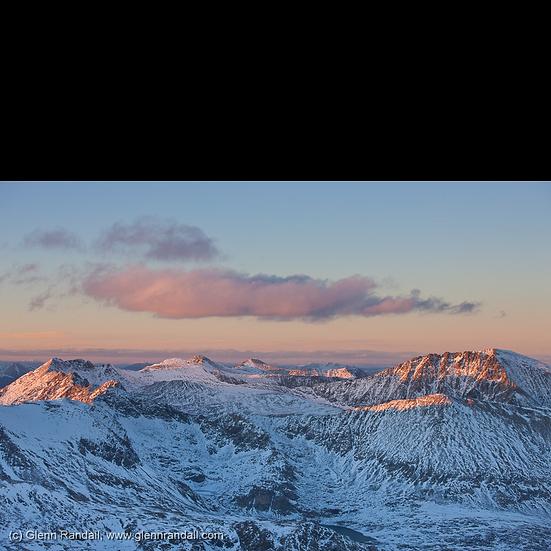 Sunset from Mt. Democrat
