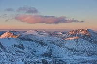 Sunset from Mt.Democrat, Mosquito Range, Colorado
