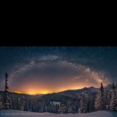 Milky Way Panorama and Longs Peak