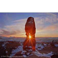 January Sunset at Delicate Arch