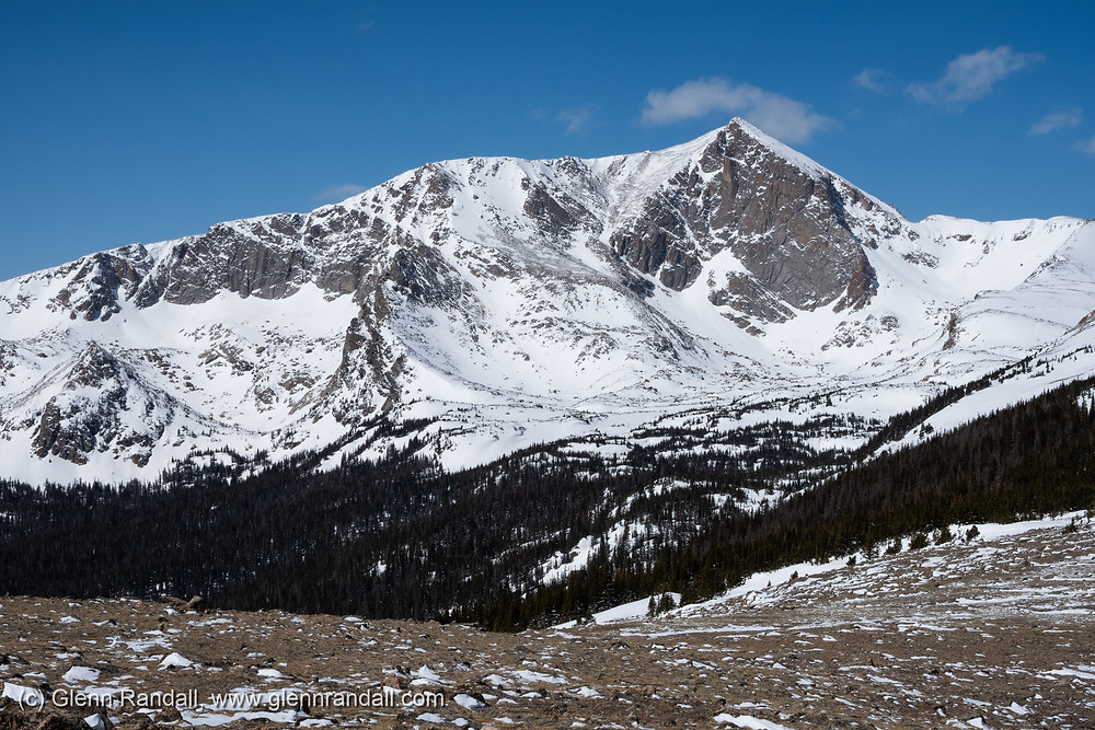 Mt. Alice from the summit ridge of Mt. Orton, Rocky Mountain National Park, Colorado.