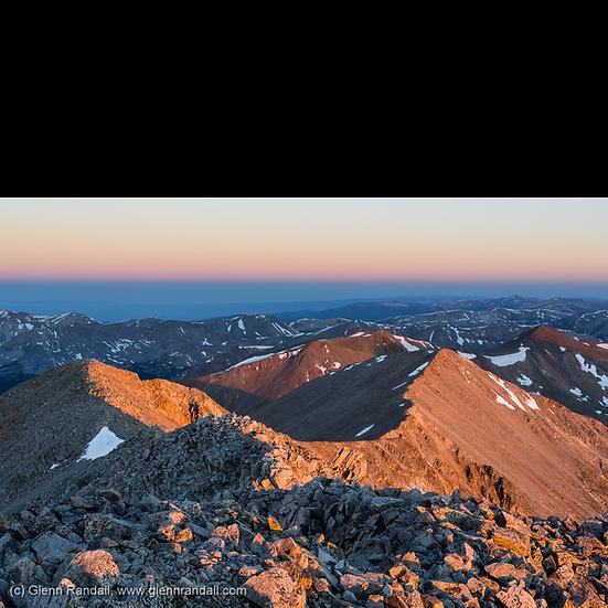 Sunrise from Tabeguache Peak