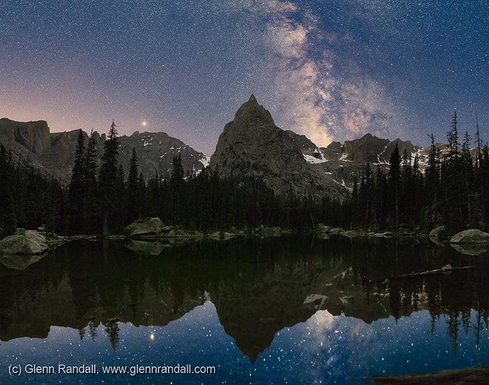 Milky Way over Lone Eagle Peak III, Indian Peaks Wilderness, Colorado