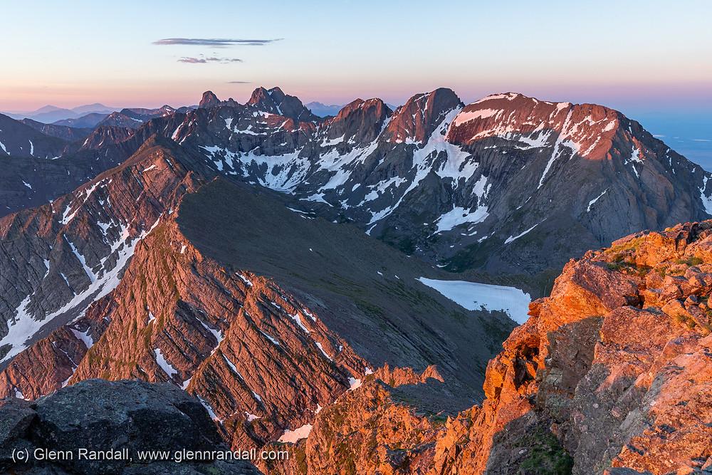 Crestone Needle, Crestone Peak, & Kit Carson from the summit of Mt. Adams, Sangre de Cristo Wilderness, Colorado