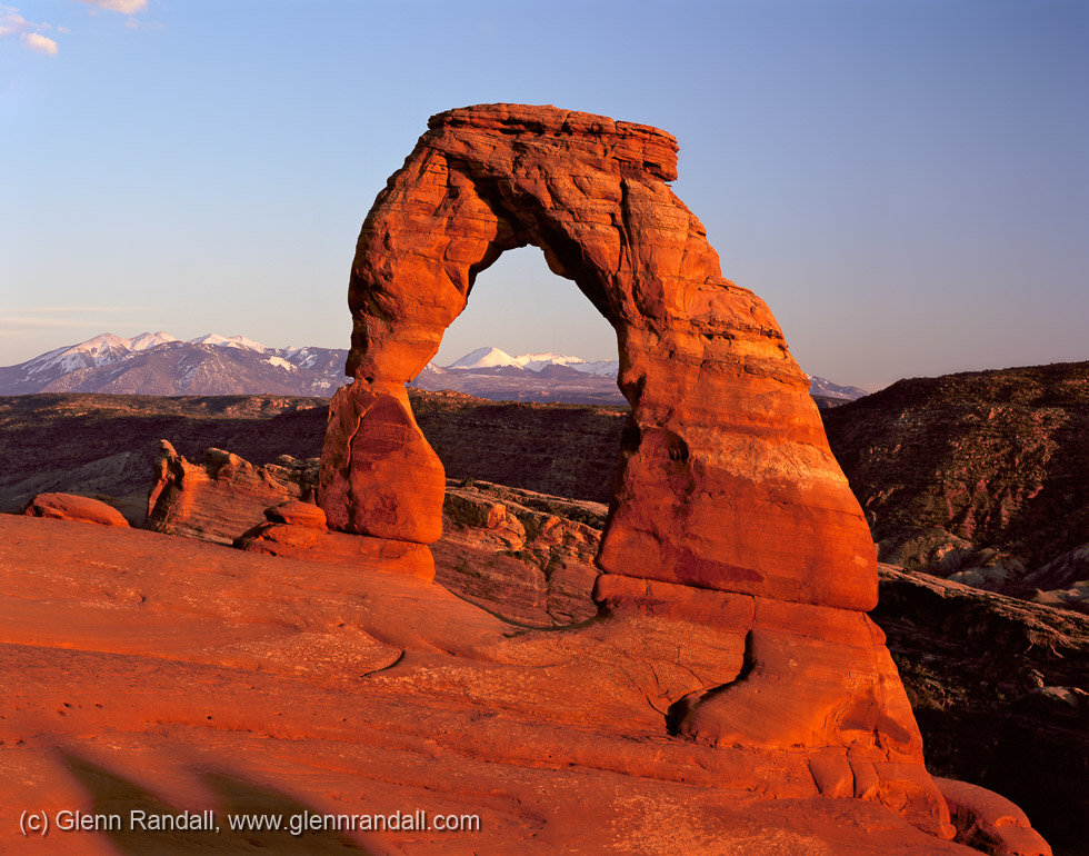 Delicate Arch and the La Sal Mountains, Arches National Park, Utah