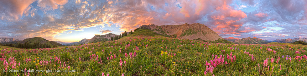 Meadow Mountain Panorama, Maroon Bells-Snowmass Wilderness, Colorado