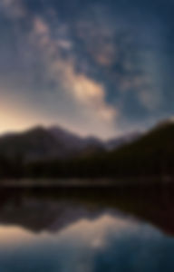 Milky Way over Bear Lake, Rocky Mountain National Park, Colorado