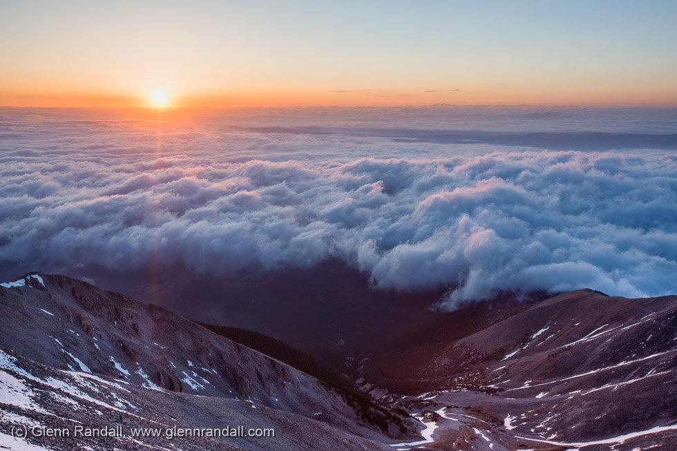 Sunrise from Mt. Princeton, Collegiate Peaks, Colorado