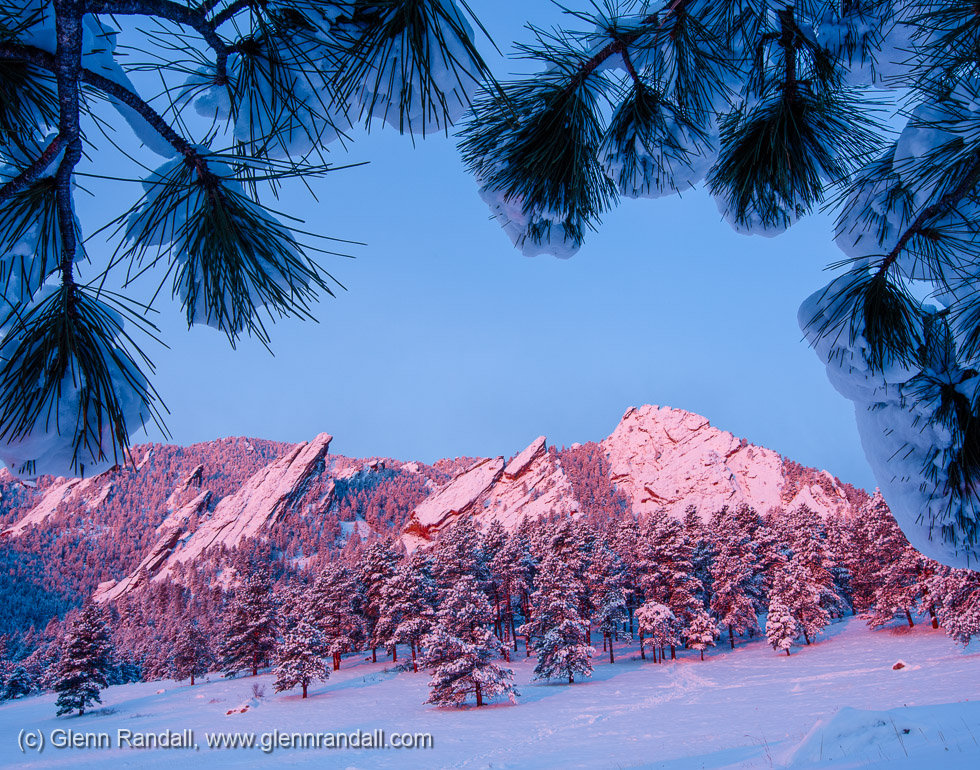 The Flatirons in Winter II, Boulder Mountain Parks, Colorado