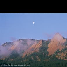 Full Moon over the Flatirons