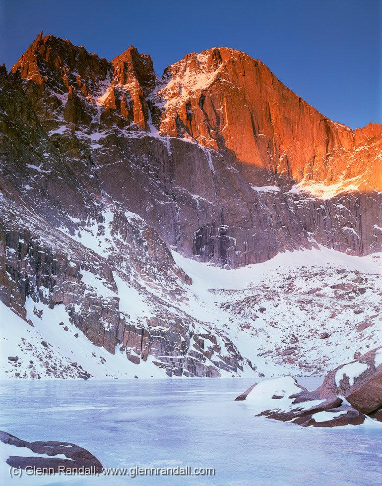 Winter Sunrise on Longs Peak, Rocky Mountain National Park, Colorado